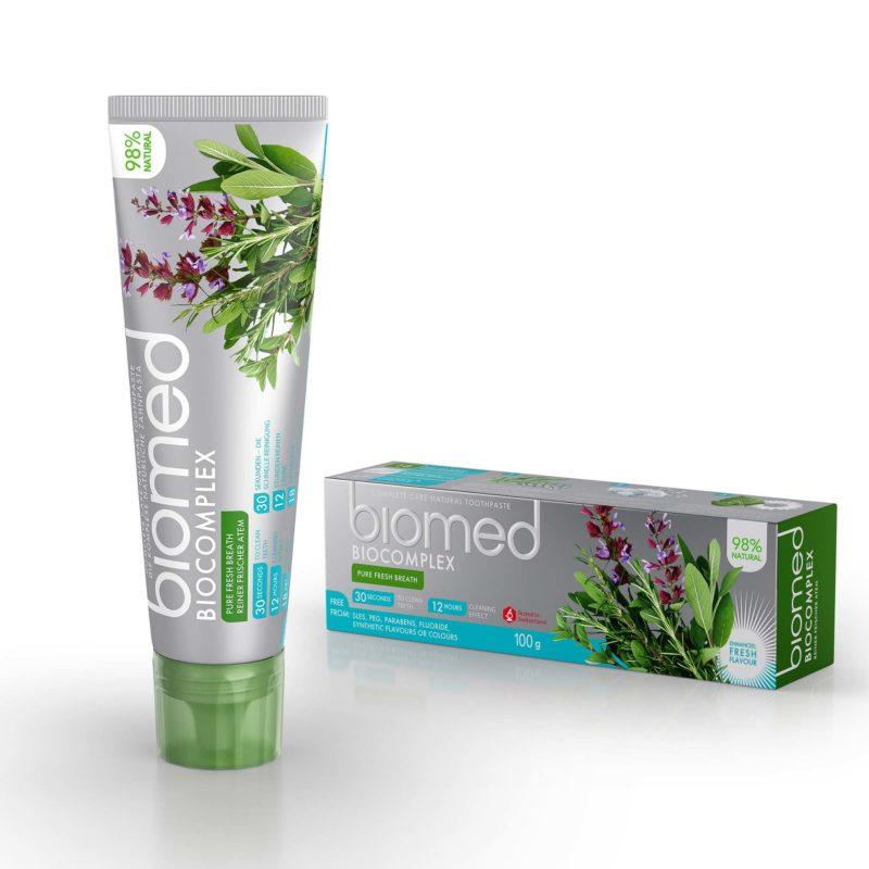 Zubní pasta pro citlivé dásně Biocomplex s přírodními esenciálními olej z cedrového dřeva