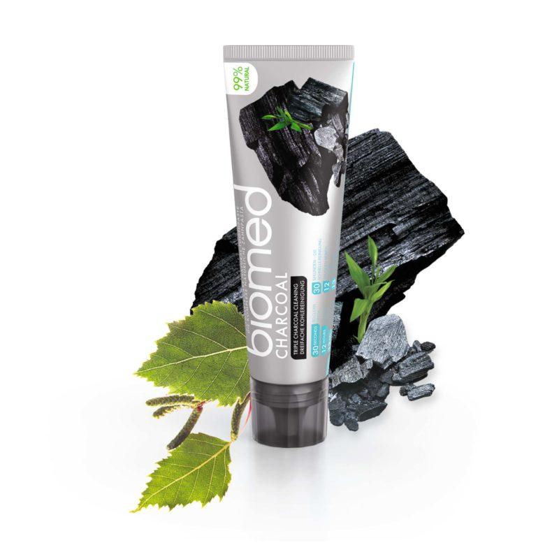 Zubní pasta pro posílení zubní skloviny Charcoal s přírodním černým uhlím