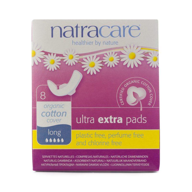 NatraCare Menstruační vložky Ultra Extra LONG s křidélky