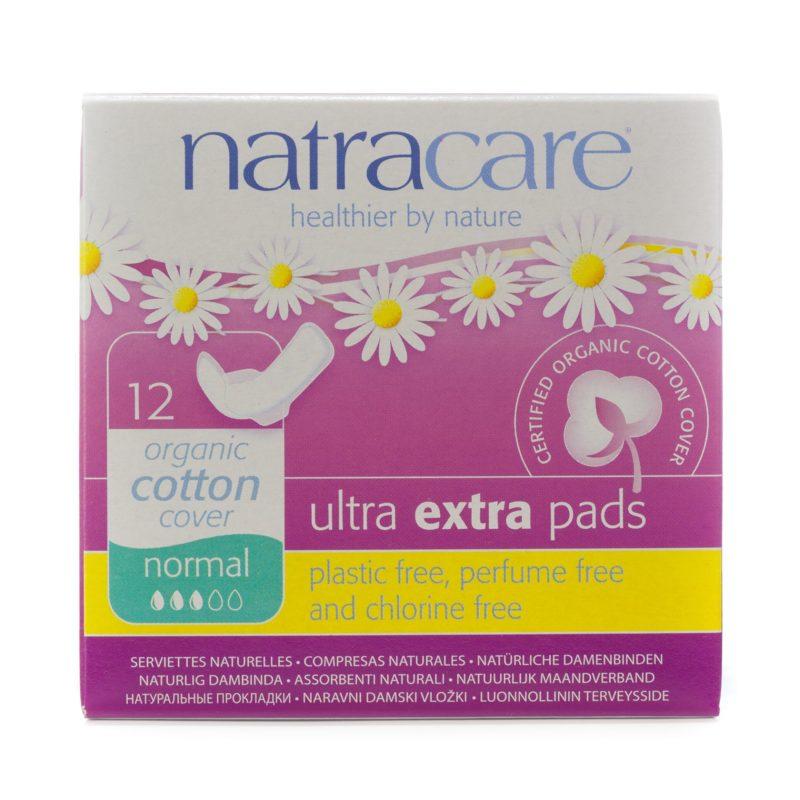 NatraCare Menstruační vložky Ultra Extra NORMAL s křidélky