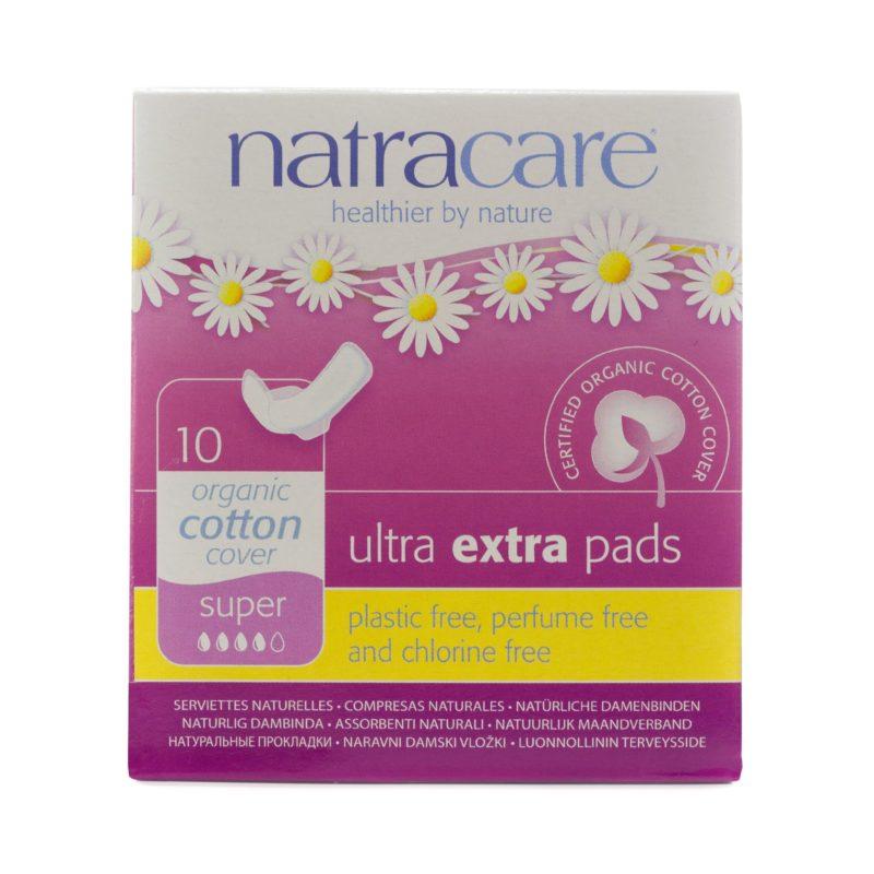 NatraCare Menstruační vložky Ultra Extra SUPER s křidélky