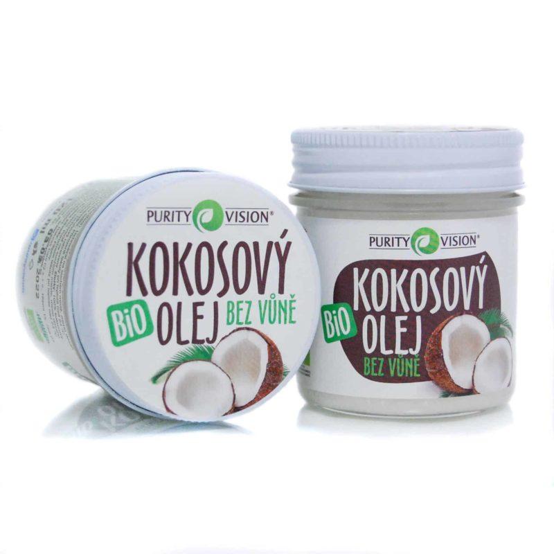 Kokosovy olej bez vune v ruznych polohach. 200 ml balení