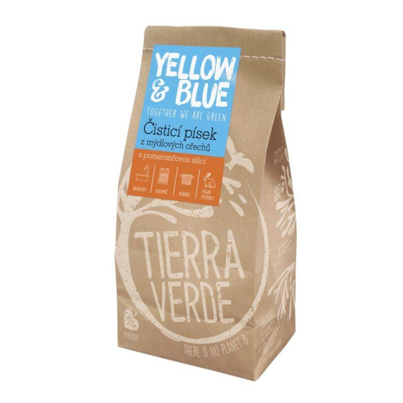 Yellow & Blue Čistící písek z mýdlových ořechů s vůní pomeranče