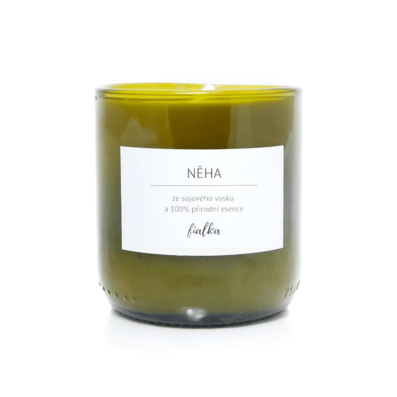 Vonná svíčka ze sójového vosku Fialka