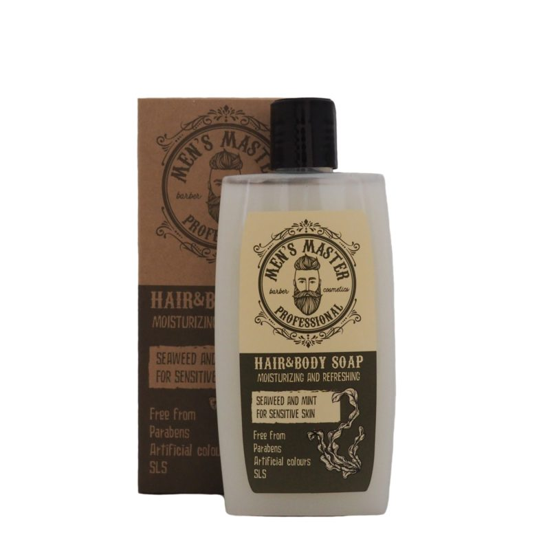Osvěžující mýdlo na vlasy a tělo s mořskými řasami a mátou