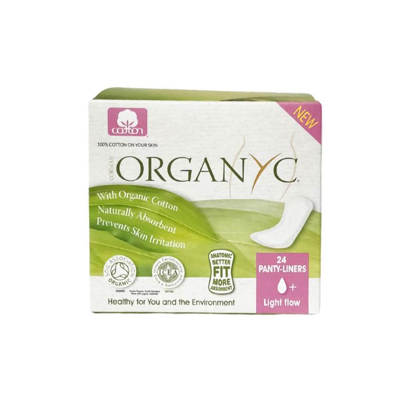 organyc menstruační vložky light flow